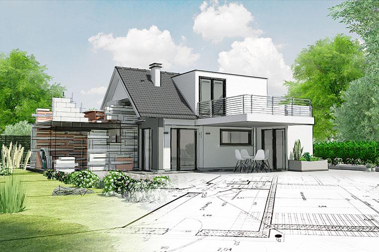 Maisons d'en France 01 : construction de maison individuelle sur mesure, sur plan, pour une maison d'architecte en Rhône-Alpes