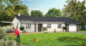 Modèle de maison personnalisable Amazonite, Maisons d'en France 01