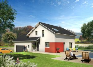 Modèle de maison personnalisable Cinque, Maisons d'en France 01