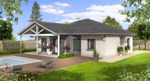 Modèle de maison personnalisable Columbia C, Maisons d'en France 01