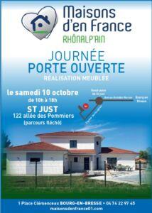 porte ouverte à St Just, Maisons d'en France 01