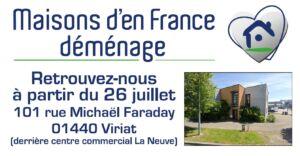 DEMENAGEMENT DE NOS LOCAUX, Maisons d'en France 01